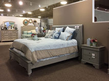 Bedroom furniture sale at furniture market TX Stock Photography