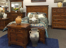 Bedroom furniture selling Stock Image