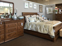 Bedroom furniture selling Stock Images