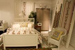 Bedroom furniture store royalty free stock images