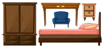 Bedroom furnitures Royalty Free Stock Photography