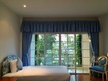Bedroom with garden Stock Images