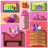 Bedroom for girls. Girls bedroom. Royalty Free Stock Image