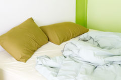 Bedroom green royalty free stock photography