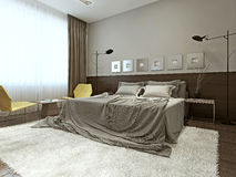 Bedroom high-tech style Royalty Free Stock Images
