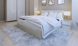 Bedroom high-tech style Royalty Free Stock Photo