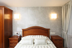 Bedroom in hotel Stock Image
