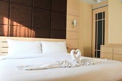 Bedroom in hotel Stock Photo
