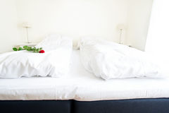 Bedroom in hotel room Royalty Free Stock Images