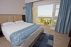 Bedroom in a hotel suite Royalty Free Stock Images
