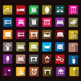 Bedroom icon Stock Images