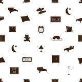 Bedroom icons pattenr eps10. Black and white bedroom icons pattenr eps10 Stock Illustration