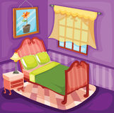 Bedroom. Illustration of cute colourful bedroom Stock Image