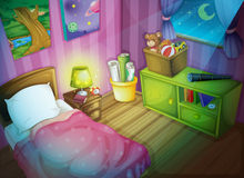 Bedroom royalty free illustration