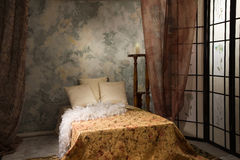 Bedroom interior. Refined bedroom interior in the vintage style Stock Images
