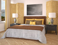Bedroom interior. Royalty Free Stock Photography