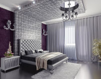 Bedroom interior Stock Photos