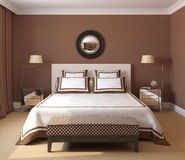 Bedroom interior. Stock Photos