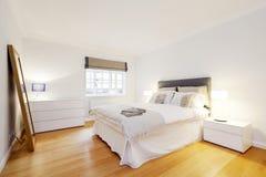 Simple bedroom interior, London Royalty Free Stock Photo