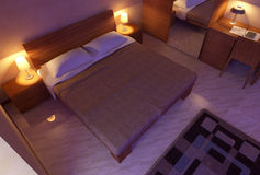 Bedroom interior 3D Stock Photos