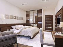 Bedroom interior avant-garde style Stock Image