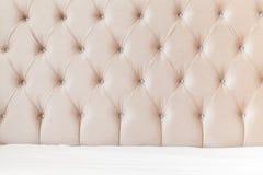 Bedroom interior background, soft headboard Royalty Free Stock Image