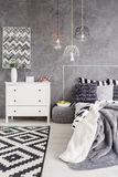 Bedroom interior with a chest of drawers Royalty Free Stock Image