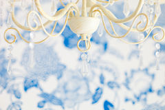 Bedroom interior closeup antique lamp Royalty Free Stock Photo