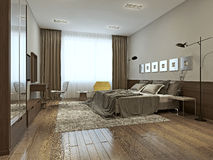 Bedroom interior in contemporary style Royalty Free Stock Image