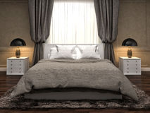 Bedroom interior. 3d illustration Royalty Free Stock Photography