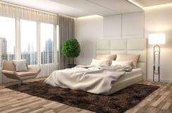 Bedroom interior. 3d illustration Stock Image