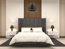 Bedroom interior. 3d illustration Stock Images