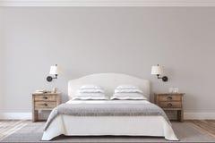 Bedroom interior. 3d render. Stock Photography