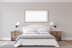 Bedroom interior. 3d render. Royalty Free Stock Photography