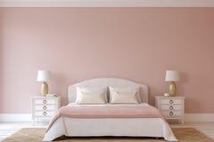 Bedroom interior. 3d render. Stock Image