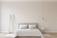 Bedroom interior. 3d render. Stock Photos