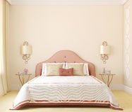Bedroom interior. 3d rendering. Stock Image