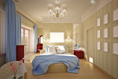 Bedroom  interior design Royalty Free Stock Images