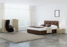 Bedroom interior design. 3D rendering Royalty Free Stock Photography