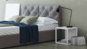 Bedroom Interior Design. 3D rendering. Bedroom Interior Design. Linens. 3D rendering Royalty Free Stock Image
