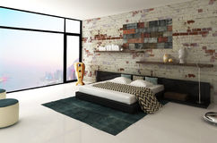 City Bedroom Royalty Free Stock Photos