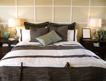 Bedroom interior design shot Stock Image