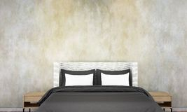 The bedroom interior design and wall pattern background and. 3d rendering interior design of bedroom Royalty Free Stock Images