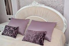 Bedroom interior fragment in light tones. Stock Photography