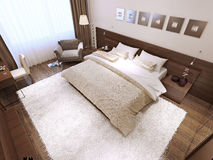 Bedroom interior high-tech style Royalty Free Stock Photo