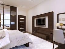 Bedroom interior high-tech style Royalty Free Stock Photos