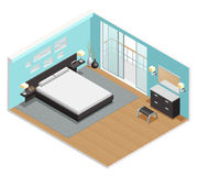 Bedroom Interior Isometric View Poster Royalty Free Stock Photo