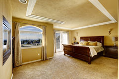 Bedroom interior in luxury house Stock Image