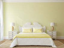 Bedroom interior. Royalty Free Stock Photo