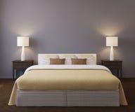 Bedroom interior. Royalty Free Stock Photos